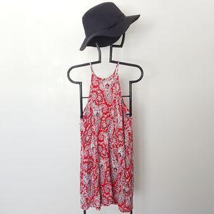AEO Paisley Boho Mini Halter Dress Summer Sm